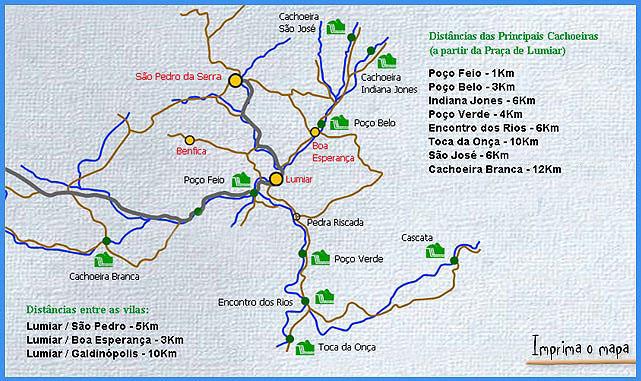 Visita por São Pedro da Serra, Lumiar e Boa Esperança, acesso a região