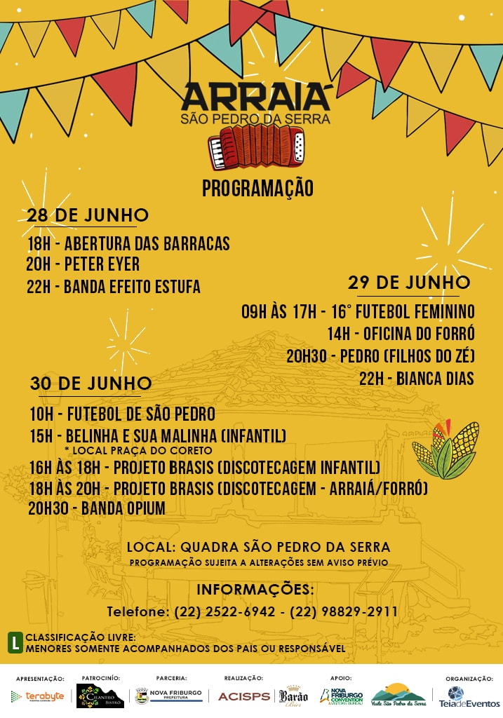Programaçao-Festa-de-Sao-Pedro-da-Serra-2019-arraia-visite-sao-pedro-da-serra