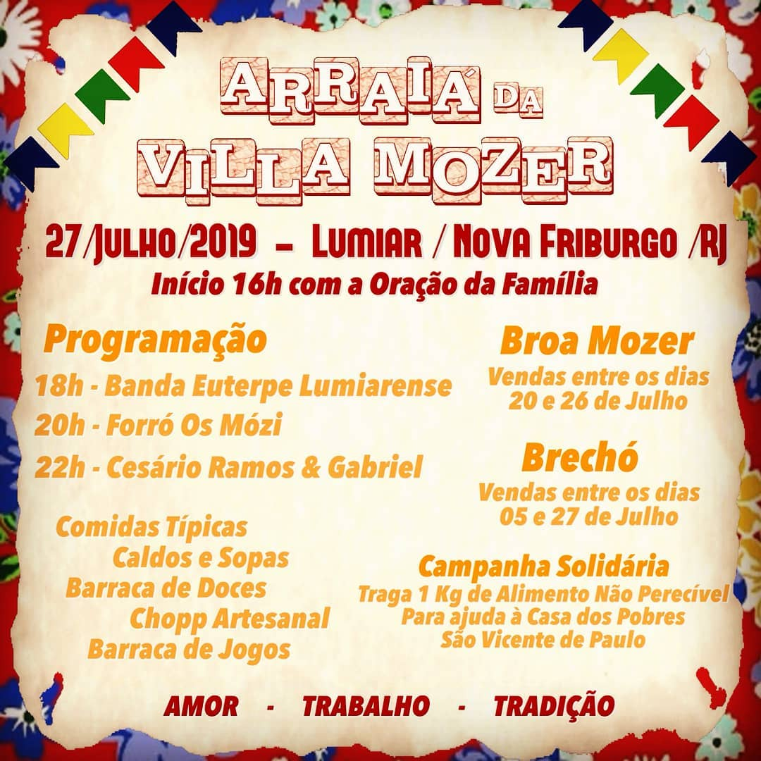 Arraiá da Villa Mozer 2019 Lumiar
