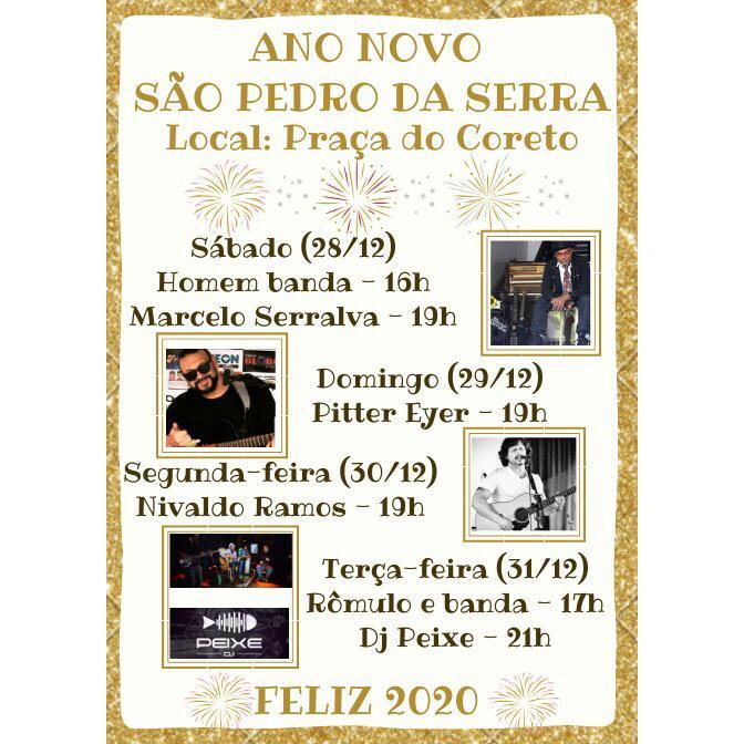 Reveillon 2020 em São Pedro da Serra